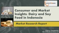 Consumer and Market Insights  Dairy and Soy Food in Indonesia