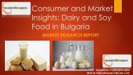 Consumer and Market Insights Dairy and Soy Food in Bulgaria