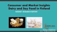 Consumer and Market Insights Dairy and Soy Food in Finland