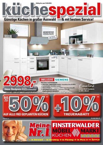 Finsterwalder Möbel- und Küchenmarkt: Günstige Küchen in großer Auswahl & mit bestem Service!