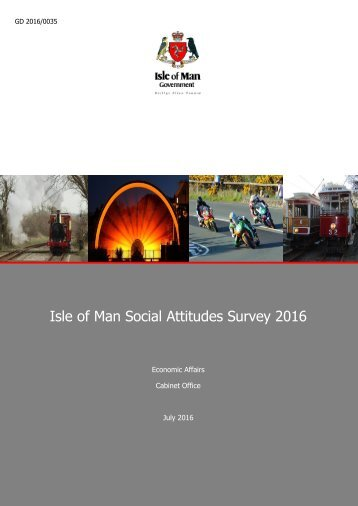 Isle of Man Social Attitudes Survey 2016