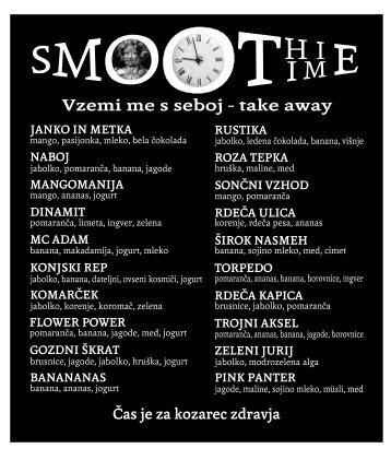 Smoothie tabla