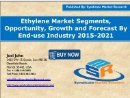 Ethylene Market size and Key Trends in terms of volume and value 2015-2021
