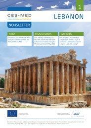 CES-MED in Lebanon - Newsletter #1