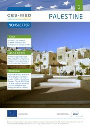 CES-MED in Palestine - Newsletter #1