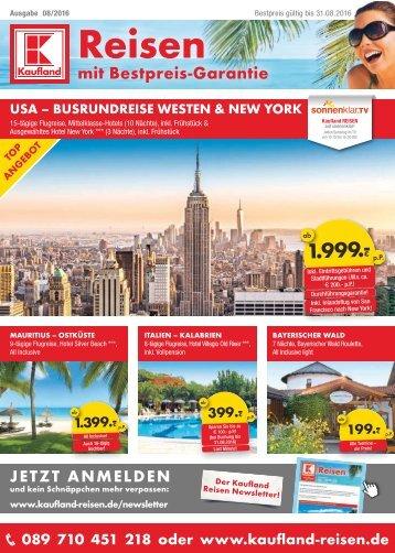 Kaufland Reisekatalog August 2016