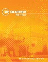 Acumen Portfolio Book