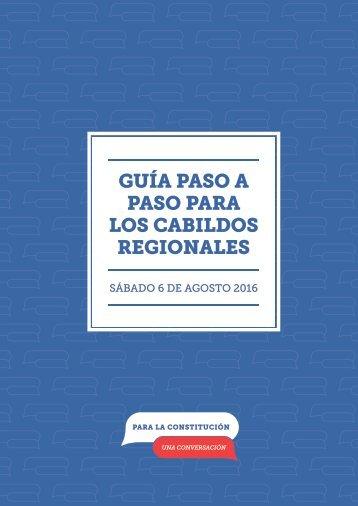 GUÍA PASO A PASO PARA LOS CABILDOS REGIONALES
