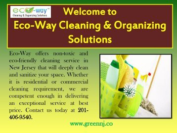 Maid Services in New Jersey|Eco-Way Cleaning & Organizing Solutions
