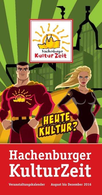 Veranstaltungskalender Hachenburger Kulturzeit 2. Halbjahr