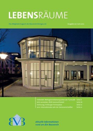 Download Lebensräume Sommer 2012 - Bauverein Breisgau eG