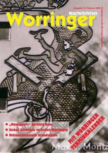 Ausgabe 14. Februar 2006 Kostenlos an alle W - Worringen