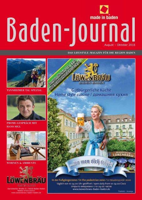 Baden Journal August - Oktober 2016