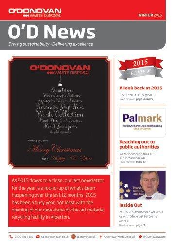 O'Donovan Newsletter Winter 2015