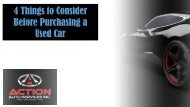 4 Things to Consider Before Purchasing a Used Car