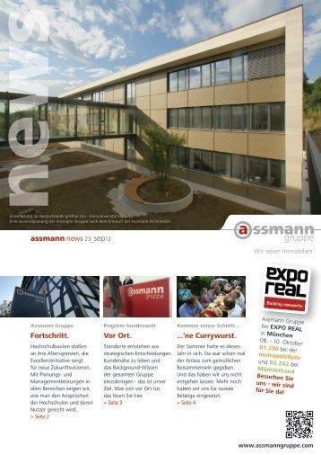 Fortschritt. assmann news 23_sep12 Vor Ort ... - Assmann Gruppe