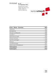 Amtsblatt Nr. 37 vom 16. September 2011 (767 - Kanton Schwyz