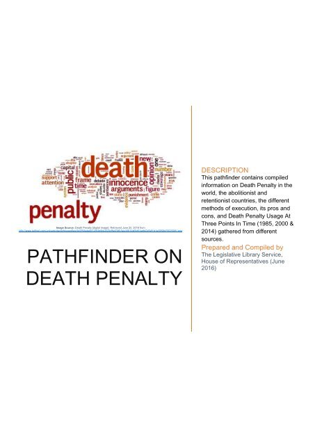 PATHFINDER ON DEATH PENALTY (PART 1 - INTRODUCTION)
