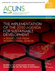 THE IMPLEMENTATION OF THE 2030 AGENDA FOR SUSTAINABLE DEVELOPMENT