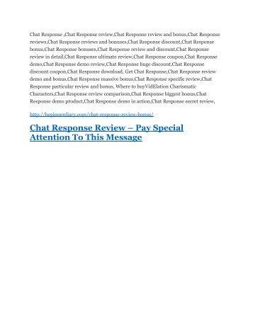 Chat Response review & Chat Response $22,600 bonus-discount