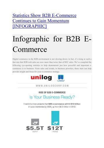 Infographic for B2B E-Commerce
