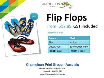 Flip Flops - Chameleon Print Group