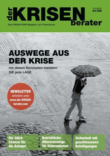 """Das Magazin """"der KRISENberater"""" - Wirtschaft in der Region"""