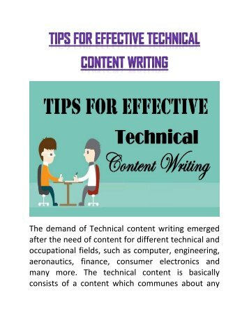 tips on technical writing