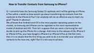 How to Transfer Contacts from Samsung to iPhone