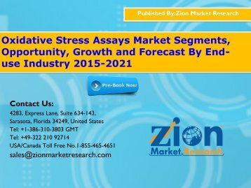 Oxidative Stress Assays Market - Global Industry Perspective, Comprehensive Analysis and Forecast, 2015 - 2021