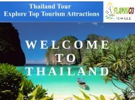 Thailand tours packages from Mumbai top Visitor Attractions