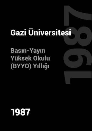 Gazi Üniversitesi BYYO Yıllığı-1987