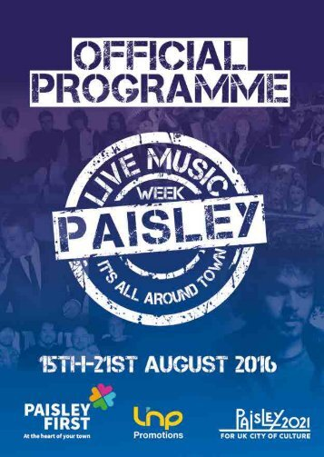 Paisley Music Week  Programme 2016