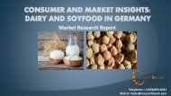 Consumer and Market Insights Dairy and Soyfood in Germany