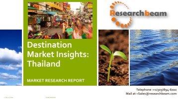 Destination Market Insights  Thailand
