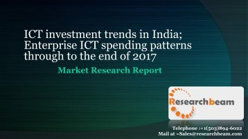 ICT investment trends in India  Enterprise ICT spending patterns through to the end of 2017