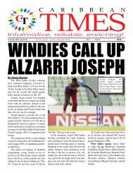Caribbean Times 61st Issue - Thursday July 28th 2016