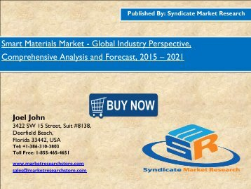 Global Smart Materials Market analysis, size, Dynamics 2021 by SMR