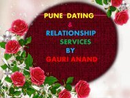 Dating Services in Pune- Gauri Anand