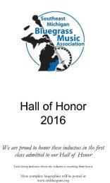 SMBMA Hall of Honor 2016