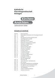 Ansichten… Kirchen- - Pfarrei St. Vinzenz Kitzingen