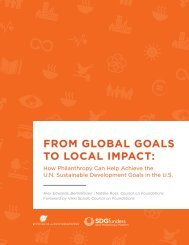 FROM GLOBAL GOALS TO LOCAL IMPACT