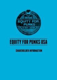 EQUITY FOR PUNKS USA