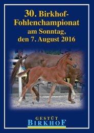 30. Birkhof-Fohlenchampionat am 7. August 2016