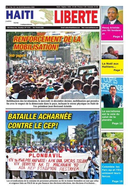 Haiti Liberte 23 Decembre 2009