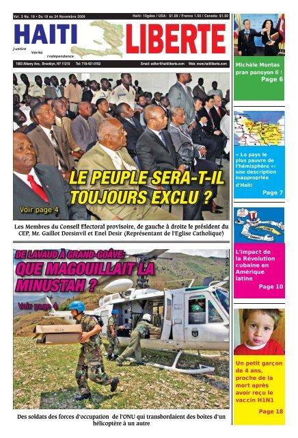 Haiti Liberte 18 Novembre 2009