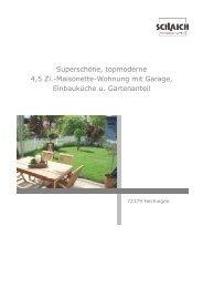 Superschöne, topmoderne 4,5 Zi.-Maisonette-Wohnung mit Garage ...