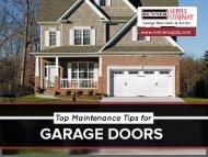 Top Maintenance Tips for Garage Doors