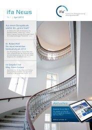 Ausgabe 1-2012 - IFA Institut