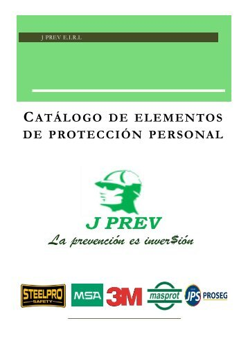 catalogo de productos J PREV